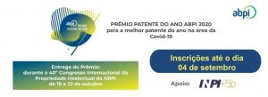Prêmio patente do ano ABPI 2020